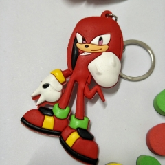 Sonic Double Sided Anime Soft PVC Keychain Kawaii Pendant