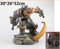 World of Warcraft Grom·Hellscream Cartoon Model Toys Statue Anime PVC Figure 30*26*32cm