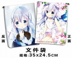 Is the Order a Rabbit? Cosplay Cartoon For Student Office File Holder Anime File Pocket