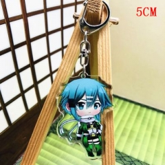 Sword Art Online Fashion Two Sides Pendant Good Quality Acrylic Anime Keychain