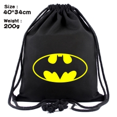 Batman Super Hero Movie Anime Canvas Bag Fashion Shoulder Drawstring Pocket Bag