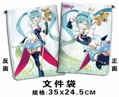 Hatsune Miku Cosplay Cartoon For Student Office File Holder Anime File Pocket