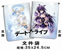 Date a Live Cosplay Cartoon For Student Office File Holder Anime File Pocket