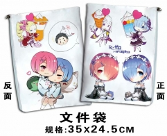 Re: Zero Kara Hajimeru Isekai Seikatsu Cosplay Cartoon For Student Office File Holder Anime File Pocket