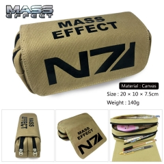 Mass Effect Cosplay Korean Cartoon Canvas For Student Anime Pencil Bag