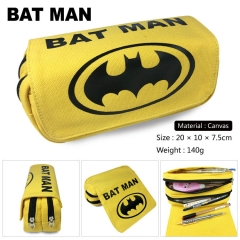Batman Cosplay Korean Cartoon Canvas For Student Anime Pencil Bag