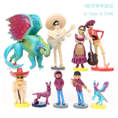 Coco Cartoon Collection Toys Statue Anime Figures 9pcs/set