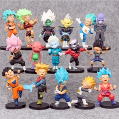 Dragon Ball Z Cartoon Collection Toys Statue Anime Figures 16pcs/set