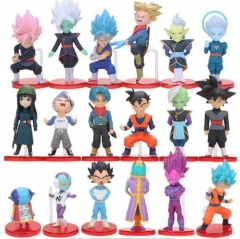 Dragon Ball Z Cartoon Collection Toys Statue Anime Figures 18pcs/set