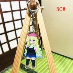 Miss Kobayashi's Dragon Maid Fashion Two Sides Pendant Good Quality Acrylic Anime Keychain