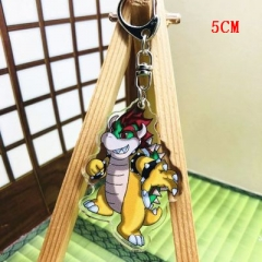Super Mario Bro Fashion Two Sides Pendant Good Quality Acrylic Anime Keychain