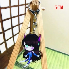 Overwatch Fashion Two Sides Pendant Good Quality Acrylic Anime Keychain