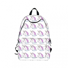 Lovely Unicorn Cartoon Backpack Girls Large Travel Bags Students Backpack Bag