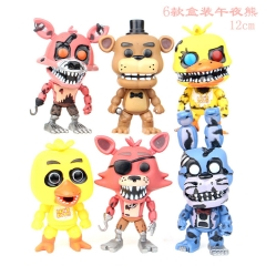 Five Nights at Freddy's Cartoon Collection Toys Statue Anime Figures 6pcs/set