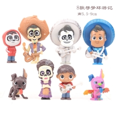 Coco Cartoon Collection Toys Statue Anime Figures 8pcs/set