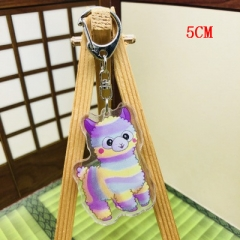 Alpaca Fashion Two Sides Pendant Good Quality Acrylic Anime Keychain