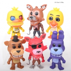 Five Nights at Freddy's Cartoon Collection Toys Statue Anime PVC Figures 6pcs/set