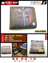 Transformers: The Last Knight Cosplay Movie Purse Anime Folding Short Wallet