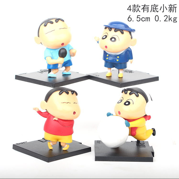 Crayon Shin-chan Cartoon Collection Toys Statue Anime PVC Figures 4pcs/set