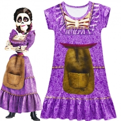 Coco Cosplay Girls Costume Cartoon Kids Performance Wear Long Dress