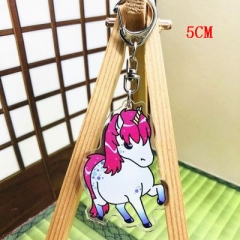 Unicorn Fashion Two Sides Pendant Good Quality Acrylic Anime Keychain