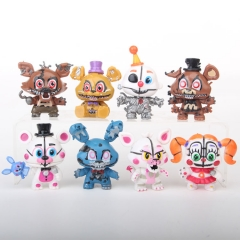 Five Nights at Freddy's Cartoon Collection Toys Statue Q-version Anime PVC Figures 8pcs/set