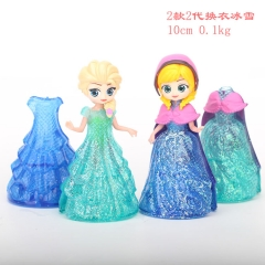 Forzen Princess Can Change Clothing Cartoon Collection Toys Statue Anime PVC Figures 2pcs/set