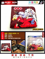 Inuyasha Cosplay Cartoon Purse Anime Folding Short Wallet