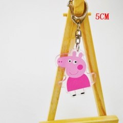 Peppa Pig Two Sides Pendant Good Quality Acrylic Anime Keychain