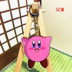 Kirby Fashion Two Sides Pendant Good Quality Acrylic Anime Keychain