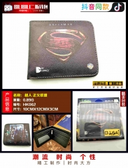 Superman Cosplay Movie Purse Anime Folding Short Wallet