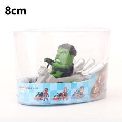 The Hulk Super Hero Cartoon Collection Toys Statue Anime PVC Figure 8cm