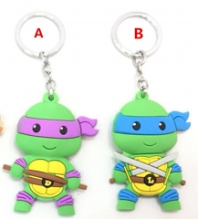 Teenage Mutant Ninja Turtles Cute Keychain Soft PVC Key Chains