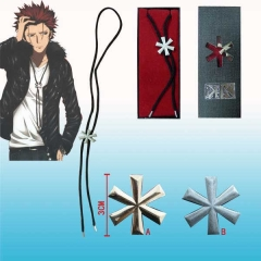 2 Colors K Suoh Mikoto Cosplay Cartoon Alloy Anime Necklace