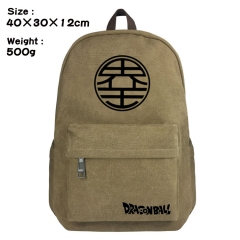 Dragon Ball Z Cartoon Bag Brown Canvas Wholesale Anime Backpack Bags