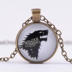 Game Of Thrones Alloy Necklace Glass Pendant Cosplay Necklace