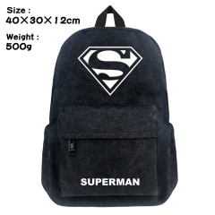 Superman Movie Bag Black Canvas Wholesale Anime Backpack Bags