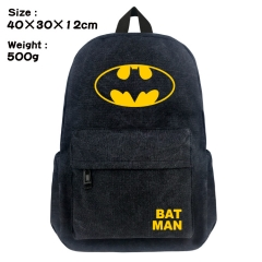 Batman Movie Bag Black Canvas Wholesale Anime Backpack Bags