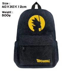 Dragon Ball Z Cartoon Bag Black Canvas Wholesale Anime Backpack Bags