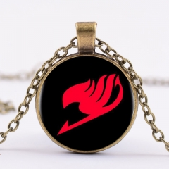 Cartoon Fairy Tail Alloy Necklace Glass Pendant Cosplay Necklace
