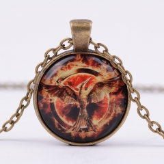 The Hunger Games: Mockingjay Alloy Necklace Glass Pendant Cosplay Necklace