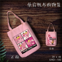 Pink Panther Cosplay Movie Cool For Girl Fashion Canvas Anime Casual Shoulder Shopping Bag