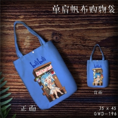 Bilibili Cosplay Movie Cool For Girl Fashion Canvas Anime Casual Shoulder Shopping Bag