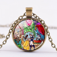 Movie Beauty And The Beast Fancy Necklace Alloy Necklace Fashion Pendant For Children