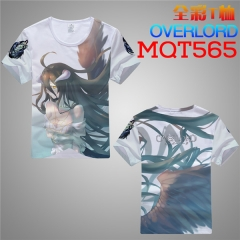 Overlord Cosplay Cartoon Print Anime Short Sleeves T Shirts
