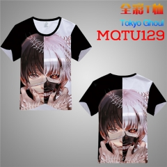 Tokyo Ghoul Cosplay Cartoon Print Anime Short Sleeves T Shirts