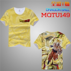 Dragon Ball Z Cosplay Cartoon Print Anime Short Sleeves T Shirts