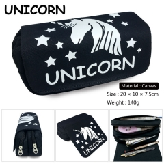 Unicorn Cosplay Cartoon For Student Canvas Anime Pencil Bag