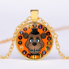 Five Nights at Freddy Necklace Alloy Necklace Fashion Pendant For Children
