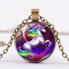 Unicorn Kawaii Necklace Alloy Necklace Fashion Pendant For Children